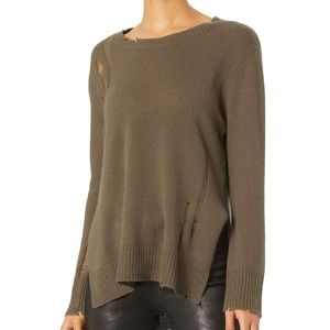 INTERMIX Enza Costa Drop Sweater Olive/Army NEW!